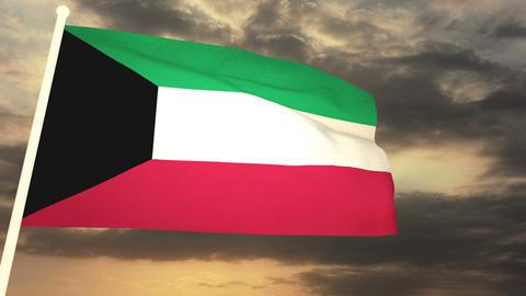 Flag Kuwait 03 Animation
