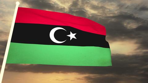 Flag Lybia 01 Animation