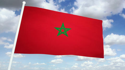 Flag Morocco 02 Animation