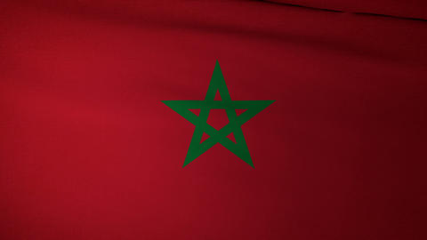 Flag Morocco 04 Animation