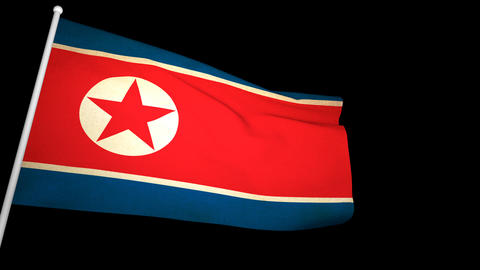 Flag North Korea 01 Animation