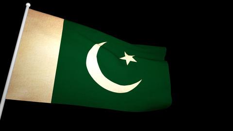 Flag Pakistan 01 Animation