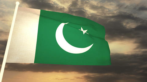 Flag Pakistan 03 Animation