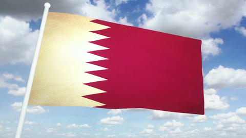 Flag Qatar 02 Animation