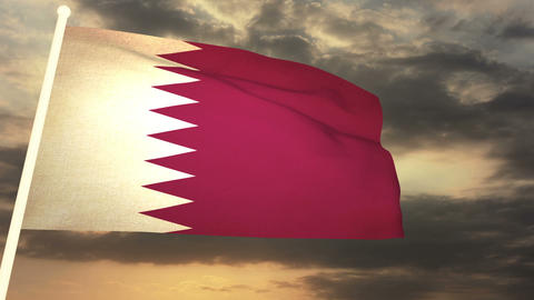 Flag Qatar 03 Animation