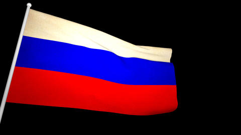Flag Russia 01 Animation