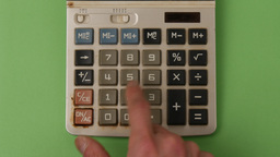 Accounting Calculator In Green Screen stock footage