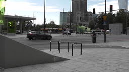 The Streets of the Warsaw City Center Footage
