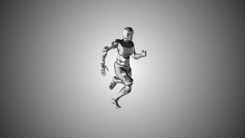 Running cyborg. chrome body. seamless loop Archivo