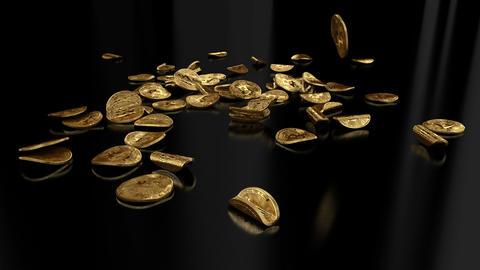 Falling bitcoin GIF