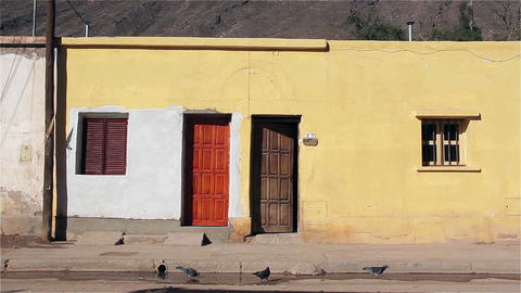 House with pigeons in Purmamarca, Puna Argentina Footage