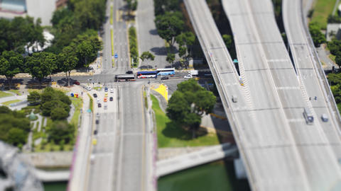 Highway Interchange in Singapore. from an Elevated Perspective Live影片