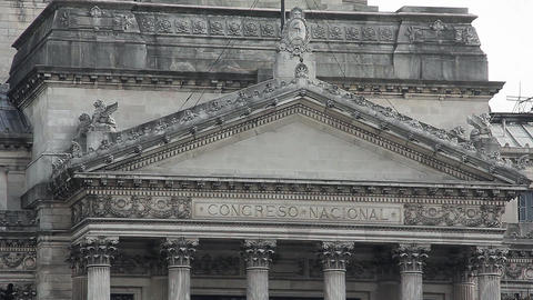 Facade of the Argentine National Congress Live Action