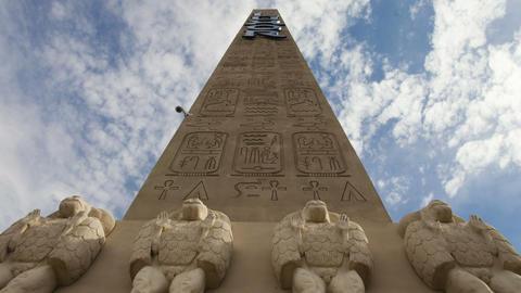 Clouds shifting over luxor obelisk Live Action