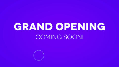 Opening soon Animation