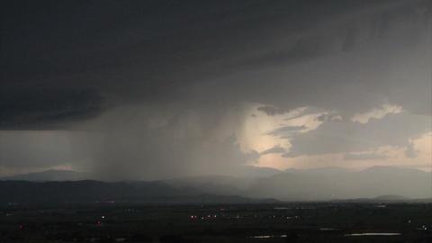 Huge lightening storm over landscape Footage
