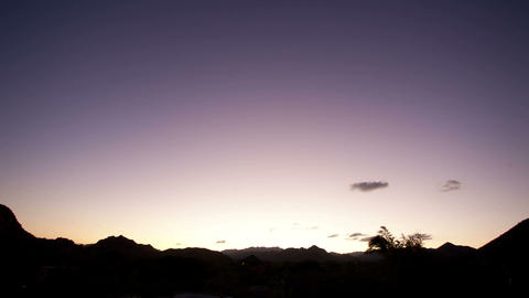 Landscape dimming sunset Footage