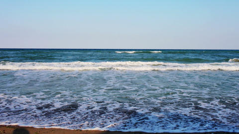 Karadere beach waves Footage