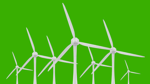 Wind Power Technology Clean and Renewable Energy Solution Live Action