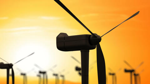 Wind Energy Turbines are One of the Cleanest Renewable Electric Energy Source Footage