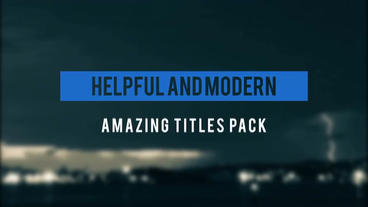 15 Unique Titles After Effects Template