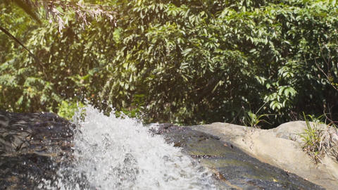 Natural Waterfall in Slow Motion. FullHD footage Footage