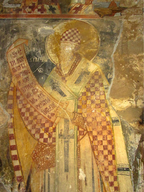 Fresco of the Medieval Orthodox Church, Bulgaria フォト