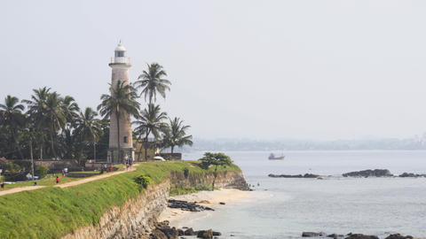 Lighthouse at Galle Fort in Sri Lanka Footage