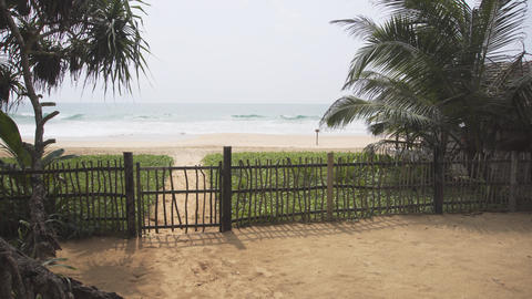 Fenced Bungalow Compound at a Hikkaduwa Beach Footage