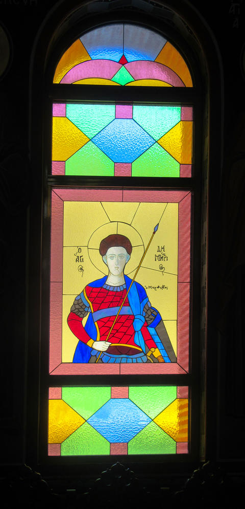 Stained glass from Golden Church フォト