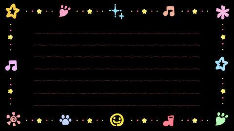 かわいい水彩イラストの便箋(ループ可能) - CG動画
