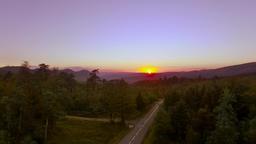 Mountain Road Sunset Image