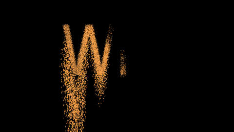 text WIN appears from the sand, then crumbles. Alpha... Stock Video Footage
