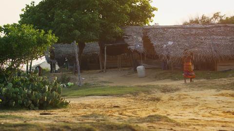 Poor Coastal Village in Sri Lanka. 4k footage 2160p Footage