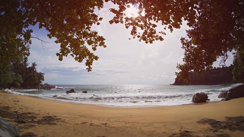 Tropical Beach Paradise on Phuket Island. Thailand. with Sound Footage