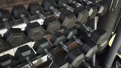 Number of dumbbells in the gym Footage