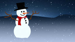 Looping Snowman Background A looping background of a snowy landscape and a Footage