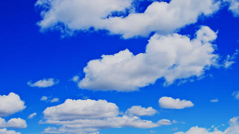 Time lapse vibrant blue sky and clouds Footage
