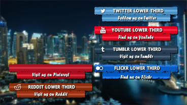 Elegant Social Media Lower Third Pack After Effects Template