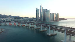 15 Sun Rise of GwangAn Bridge 09 Footage