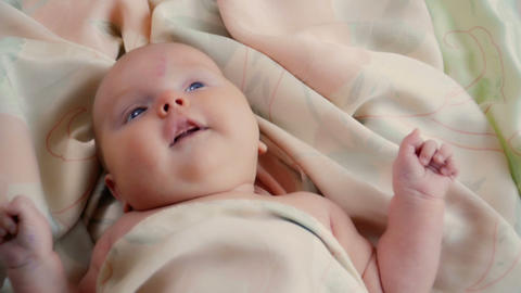 Adorable two-month baby girl Footage