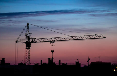 building crane sunset Photo