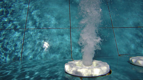 Nozzle that emits air into the swimming pool Footage