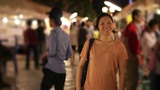 Shopping Asian Night Market stock footage