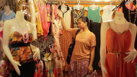 Shopping Asian Night Market Stock Video Footage
