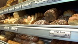 german bakery shop different breads dolly up 10753 Footage