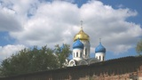 clouds over orthodox church Footage