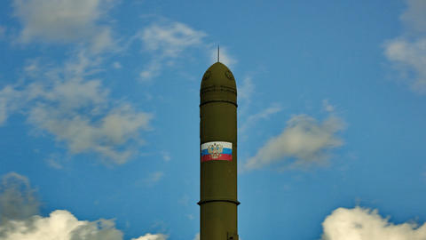 clouds over topol missile Stock Video Footage