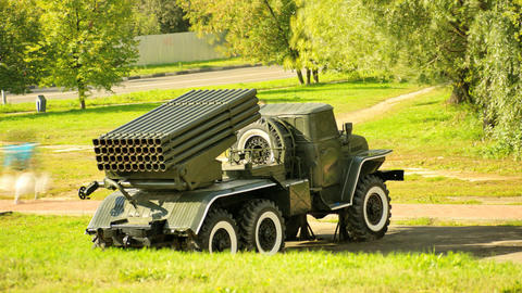 Grad Multiple-Launch Rocket System Stock Video Footage