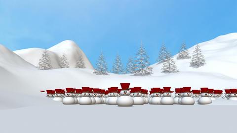 雪だるまサンタ Animation